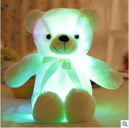Stuff toyS teddieS online shopping - 4 Colors cm Colorful Glowing Teddy Bear Luminous Plush Toys Kawaii Light Up LED Teddy Bear Stuffed Doll Kids Christmas Toys CCA8353