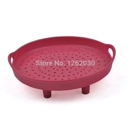 China Wholesale-2015 new silicone microwave oven Steamer,Kitchen steaming plate tool,silicone Steaming rack Free shipping !!! supplier steamer free shipping suppliers