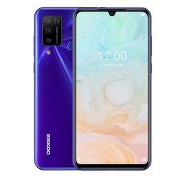 Venta al por mayor de Doogee N20 PRO, 6GB + 128GB Cámaras traseras cuádruples, identificación de huellas dactilares, batería de 4400mAh, pantalla de muesca de agua de 6.3 pulgadas Android 10.0