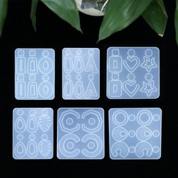 Wholesale Big Pendants Jewelry Making Silicone Mold for Resin Boho Chic Earrings Making Big Charm Resin Jewelry Molds Silicone Mold 1460 Q2