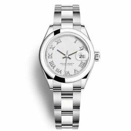 ラグジュアリートップセール女性腕時計レディードレスサイズ26mmデイトジャストサファイヤクリスタルステンレススチールローマ数女性腕時計