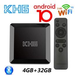 Wholesale 2021 Mecool KH6 Android 10 TV Box 4GB RAM 32GB ROM Allwinner H616 2.4G 5G WiFi 4K HD Bluetooth Smart Set Top Box