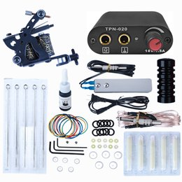 Wholesale Complete Tattoo Kit For Beginner Power Supply Needles Guns Set Small Configuration Tattoos Machine Ink Body Art Tools