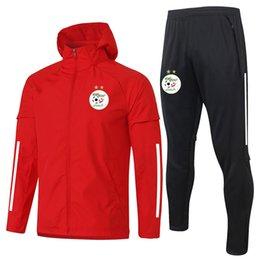 Ingrosso 2020 2021 Algeria maniche lunghe da calcio a vento a vento allenamento giacche giacche pantaloni sportivi invernali da calcio tracksuiti da calcio set kit set da corsa