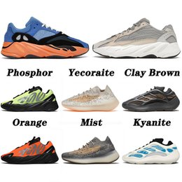hauts lumineux achat en gros de-news_sitemap_homeboost v2 v3 kanye west Top Quality Bright Blue Chaussures de course Triple Black Mist Alien Safflower Azareth Azael Hommes Femmes Mode Sports de plein