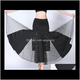 Discount flamenco dance Stage Wear Apparel Drop Delivery 2021 Ladies Flamenco Ballroom Skirt Spain Dancing Training Dress Women Belly Dance Boho Party Performance Gi