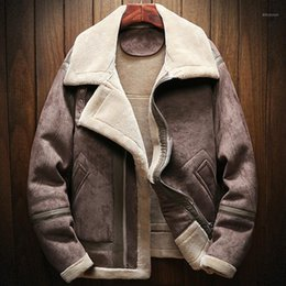 mens oversized clothing UK - Men's & Vintage Winter Man's Lined Oversized European Style Brand Clothing Mens Faux Fur Leather Jacket Coats Overcoats A9021 JT3C