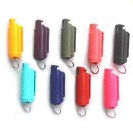 Kadınlar için 9 renkler 20 ml Sprey Anahtarlık Silahlar Ürünler için Kendini Savunma Anahtarlık Açık Kadın Kendini Savunma Anahtarlıklar