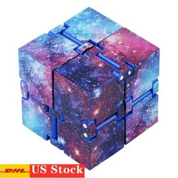 Wholesale infinity designer for sale - Group buy DHL Infinity Fidget Cube for Child and Adults Family Stress and Anxiety Relief Cool Hand Mini Kill Time Toys Infinite Cube for Add ADHDs