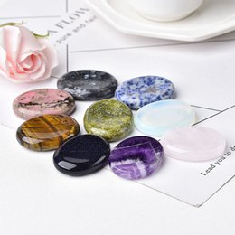 Worry Stone Natural Gemstone Energy Healing Stone Thumb Massage Chakra Wicca Reiki Spiritual Therapy Minerales Ornaments