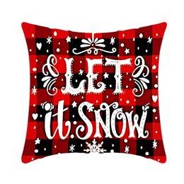 Pillow Case Santa Claus Christmas Tree Snowman Elk PillowCase Colorful PillowCover Home Sofa Car Decor Pillowcases GWD11118 on Sale