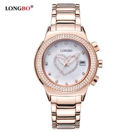 Discount heart calendars Longbo Korean Diamond Heart-shaped Fashion Quartz Ladies' Watch