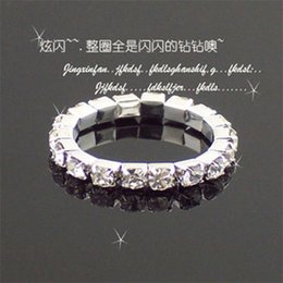 Wholesale Big Promotions 36Pcs Wholesale Jewelry Lots Full Clear Czech Rhinestones Fashion Stretchy Toe Rings For Womens A-809 Hedhs Axjkb 840 Q2