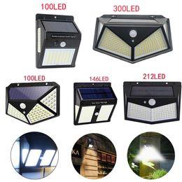 venda por atacado Luzes solares LED Jardim PIR Motion Sensor Lâmpada de parede impermeável ip65 iluminação ao ar livre para via de rua
