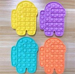 venda por atacado Entre nós Sensory Push Pop Pop Bubble Fidget Toy Autismo Especial Necessidades Ansiedade Stress Squeeze Reversível para Kid Add