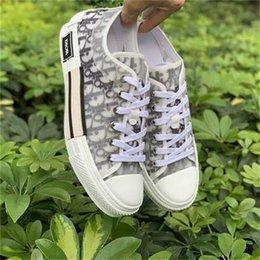 High Top Dìòr Air Sneakers Baskets Femmes Canvas Oblique B23 Designers Luxurys KAWS Hommes Chaussures Men Women Casual Shoes 4153 on Sale