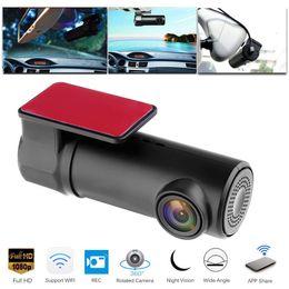 1080P WifiミニカーDVRダッシュカメラナイトビジョンビデオカメラ運転ビデオレコーダーダッシュカムリアカメラデジタルレジストラ