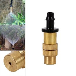 brass water nozzles UK - Watering Equipments 10 20 40Pcs Threaded Brass Mist Nozzle Misting Spray Sprinkler Gardening Water Cooling Adjustable Garden Lawn Irrigation