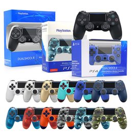 Wholesale Wholesale In stock PS4 Wireless Bluetooth Controller high quality Gamepad 22 colors for Joystick Game Without Logo With Retail Box