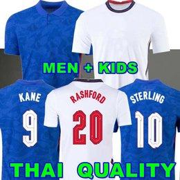 venda por atacado Camisa de futebol da INGLATERRA 2020 2021 KANE FODEN STERLING MOUNT RASHFORD SANCHO HENDERSON BARKLEY MAGUIRE LINGARD 20 22 camisas masculinas de futebol nacional