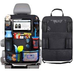 venda por atacado 2 pcs Assento de carro Back Organizador 9 Bolsos de Armazenamento com Touch Screen Taplets Protetor para crianças Acessórios para crianças