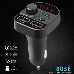 Transmisor FM Converter Bluetooth Автомобиль громкой связи Беспроводной Bluetooth FM Модулятор Датчик LCD MP3 Player USB Зарядное устройство Автомобильный комплект на Распродаже