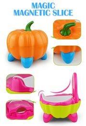 Cute Pumpkin Style Designer Toilet Seat for Children with High Quality Children's Training Device 3 Colors by DHL on Sale