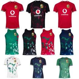 2021 İngiliz İrlanda Aslanlar Rugby Jersey 21 22 Ev Singlet Eğitim Testi Isınma Gömlek Boyutu S-5XL
