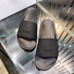 High quality womens slide sandals fashion Summer men flats slippers Indoor Shoes Size EUR 36-45 With Box on Sale