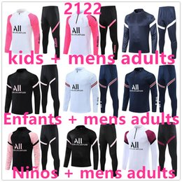 fatos de treino para adultos venda por atacado-20 kids Niños men adultos ajax on marseille real madrid psg chandal futbol chándal de fútbol soccer tracksuit football training suit