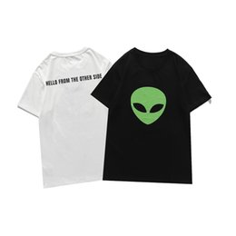 Wholesale t shirt men alien for sale - Group buy Famous Mens High Quality T shirt Womens Summer Designer Alien Print Short Sleeve Couples Round Neck Tee Polo