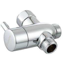 Опт Энергосбережение хорошее качество Латунь G1 / 2 Диавертер / Ручной Душевой Душевой клапан с отключением для душевого хрома
