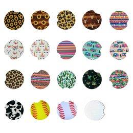 Neopren-Auto-Untersetzer-Kaffeetasse Matten Kaktus-Einhorn-Blume gedruckt weiche runde rutschfeste 22 Farben im Angebot