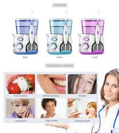 Wholesale Waterpulse V300G Oral Irrigator 5pcs Tips Water Electric Cleaner 800ml Hygiene Dental Flosser Flossing