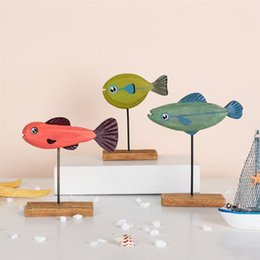 christmas fish ornament UK - Christmas Fish Decor Cartoon Ornament Wooden Desktop Adornment Decoration Novelty Items