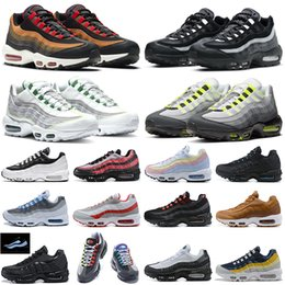 Neon 95 men running shoes 95s Dark Smoke Grey Yin Yang Triple Black White Greedy outdoor platform mens womens trainers sports sneakers on Sale
