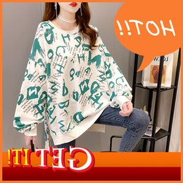 Wholesale cotton short front long back resale online - Wubi crab with cotton inschao brand niche round neck thin sweater women s front short back slit long sleeve T shirt women