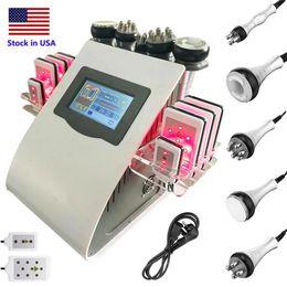 Stock in US Slimming Machine 40K Ultrasonic liposuction Cavitation Radio Frequency Lipo Laser 8 Pads RF Vacuum Skin Care Salon Spa on Sale