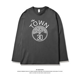 Discount curry basketball shirt men's Zues spring new basketball warrior curry long sleeve t-shirt men's fashion brand loose size training IF7R