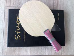 Toptan satış Karbon Fiber Masa Tenisi Raket 7 Katmanlar Uzun Kolu Kısa Kolu Yatay Kavrama Tenis Masa Kürek Bıçak Kauçuk