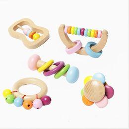venda por atacado 5 pc / set Montessori brinquedos bebê chocalho berço brinquedos ids berço educativo brinquedo bebê móvel para meninas waldorf carrinho de bebê brinquedo infantil 1094 y2