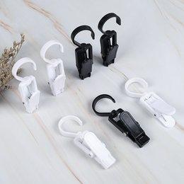 Polos de cortina Ducha Rod Cumplimiento de gancho blanco Blanco Color negro Baño de plástico Cuadrito Cierre de bucle CLASP CLAPERY CLAPS GWC7552 en venta