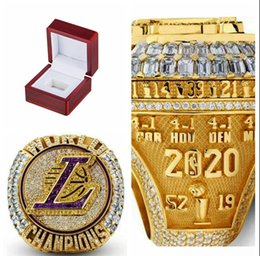 2020 Toptan LA Şampiyonası Yüzükler Lakers Moda Hayranları Şampiyonası Hediye Yüzükler Fan Erkekler Hediye Toptan Drop Shipping