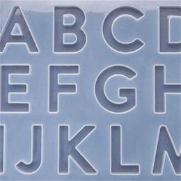 1 unids Inglés Alfabeto Resina Moldes Número de silicona Letra Epoxy Resina Molde Molde Moldes para Joyería de DIY Hallazgos Hallazgos 1488 Q2 en venta
