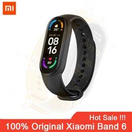 Xiaomi Mi Band 6 Smart Armband AMOLED Blut Sauerstoff Fitness Traker Herz Rate Bluetooth Wasserdichte Smart Mi Band6 Smart Uhr 6 on Sale