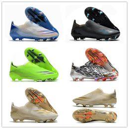 2021 мода мужские вязание высокого класса FG футбол футбольные ботинки призрачные ботинки F CLEATS HANDOOR TANGO TACOS DE FUTBOL Тренеры спорта на Распродаже