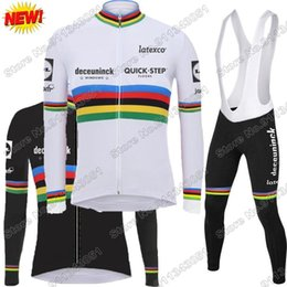 Wholesale Racing Sets Quick Step Cycling Jersey Summer Set Men World Clothing Long Sleeve Road Bike Suit MTB Maillot Cyclisme