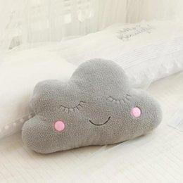 Hermosa nube llena de luna estrella lluvia gota de lluvia almohada suave cojín juguete bebé niños regalo regalo en venta