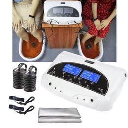 Опт Высококачественные ионные детоксики для ног SPA SPA Сильные ионные очищают машину для ног для двух человек