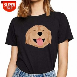 Wholesale golden retrievers for sale - Group buy T Shirt Women golden retriever Fashion White Custom Female shirt Party dg0W